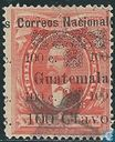Justo Rufino Barrios, with overprint