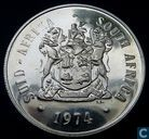 "South Africa 1 rand 1974 (PROOF) ""50th Anniversary of Pretoria Mint"""
