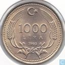 Turkey 1000 lira 1993