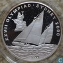 "Laos 5000 kip 1999 (PROOF) ""2000 Summer Olympics - Sydney"""