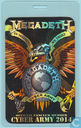 Megadeth Backstage Pass, Cyber Army Laminate 2014