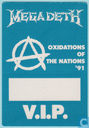 Megadeth Backstage V.I.P. Pass, 1991