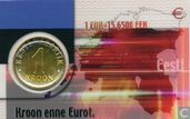 Estonia 1 kroon 2001 (Coincard)