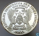 "Sao Tomé and Príncipe 1000 dobras 1990 (PROOF) ""Vasco da Gama"""