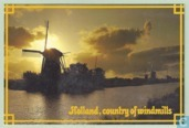 Kinderdijk, country of windmills