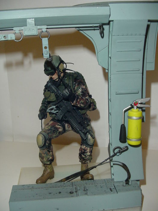 pair of highly realistic military action figures by mc farlane 1990