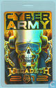 Megadeth Backstage Pass, Cyber Army Laminate 2012