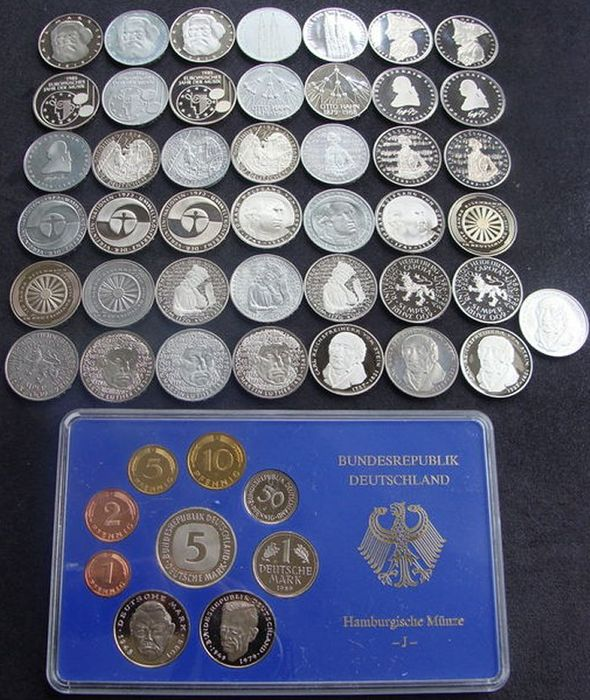 Germany Annual Set 1989 5 Mark Commemorative Coins 19791986 43