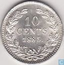 Pays Bas 10 cent 1885