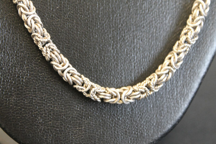 Long 925/1000 silver necklace