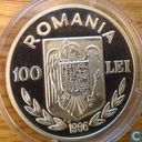 "Romania 100 lei 1996 (PROOF) ""Olympics 1996 - Rowing"""