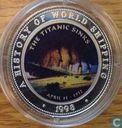 "Somalia 250 shillings 1998 (PROOF) ""Titanic sinks"""