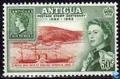 100 years stamps on Antigua