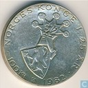 "Noorwegen 100 kroner 1982 ""25th Anniversary of King Olav's Reign"""