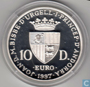 "Andorra 10 diners in 1997 (PROOF) ""40 Years Roman conventions'"
