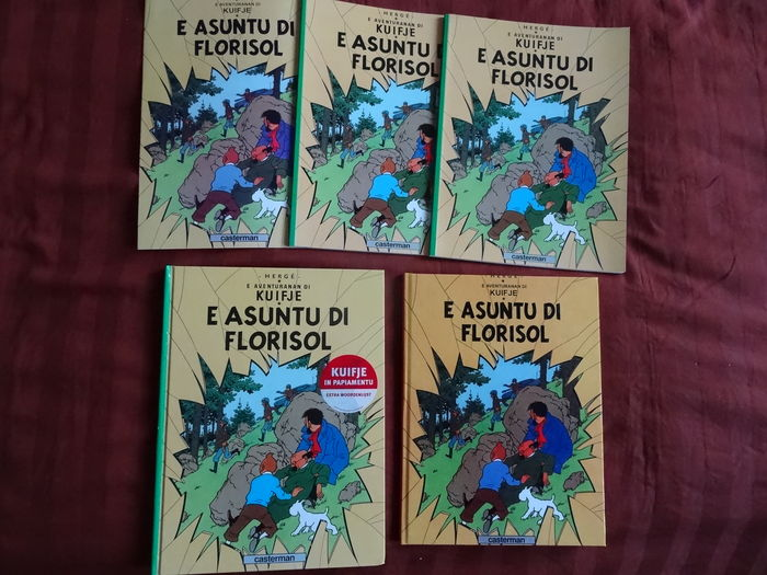 Tintin - E asuntu di Florisol - 4 different albums + flyer (2008)