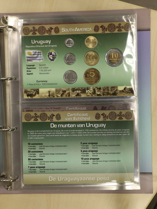 world collection of 31 different coin sets from the series coins