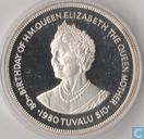 "Tuvalu 10 dollars 1980 (PROOF) ""80th Anniversary of the Birth of the Queen Mother"""