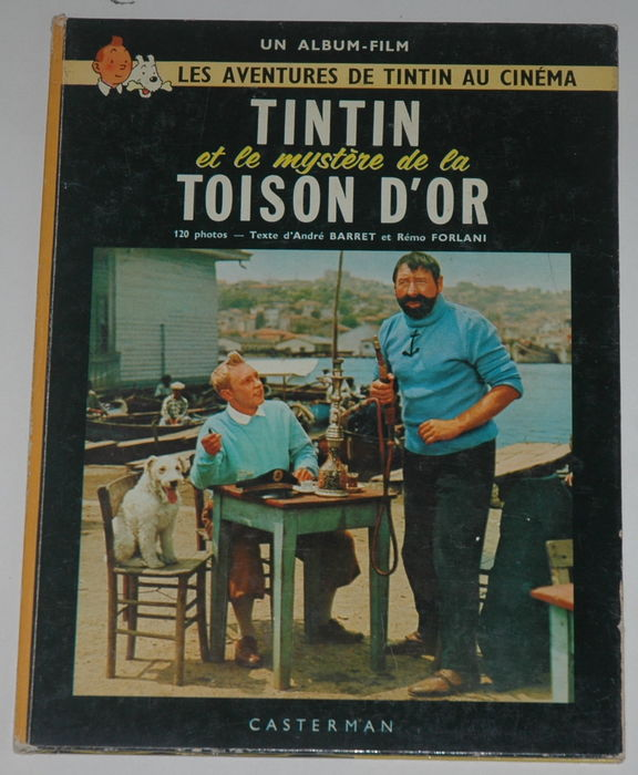 tintin tintin et le myst re de la toison d 39 or d dicace de jean pierre talbot c 1963. Black Bedroom Furniture Sets. Home Design Ideas