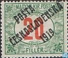 Hungarian post with imprint