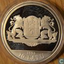 "Latvia 10 latu 1998 (PROOF)""20th Century Riga Riga-800"""