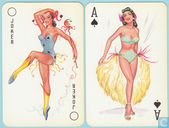 55 Pin-Ups, Van Genechten, Turnhout, 52 Speelkaarten + 3 jokers + 1 extra card, Playing Cards