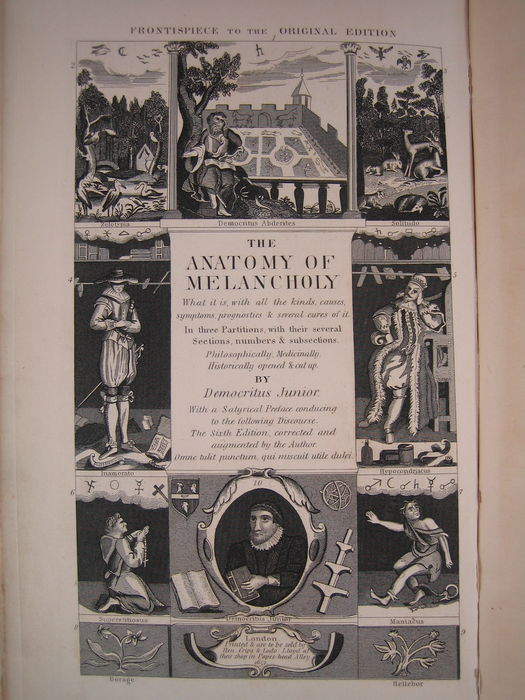 Old Rare Robert Burton Democritus Junior The Anatomy Of