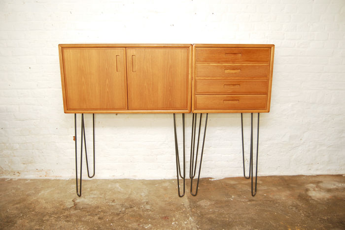 Design Dressoirs En Ladekasten.Scandinavisch Design Dressoir En Ladekast Op Hairpin Legs Catawiki