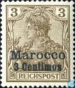 Germania Reichspost with print