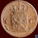 Coins - the Netherlands - Netherlands ½ cent 1821 (B)