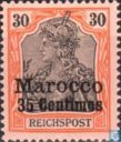 Germania Reichspost avec impression