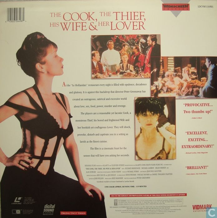 the take of the cook the thief his wife and her lover Watch the cook, the thief, his wife & her lover (1989) full movie online, the wife of an oafish restaurant owner becomes bored with her husband and considers an affair with a regular patron.