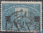 Stamps of 1921 with print