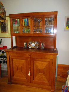 New art oak sideboard - from the school of Jac. v.d. Bos