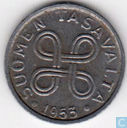 Finland 1 markka 1953 (Nickel plated iron)