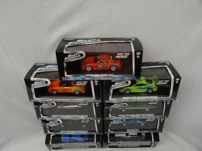 fast and furious greenlight 1 43 neuf miniatures du film catawiki. Black Bedroom Furniture Sets. Home Design Ideas