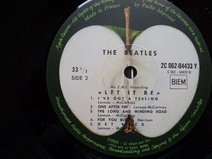 The Beatles Let It Be 2 X 1970 Uk 33th Pressing French