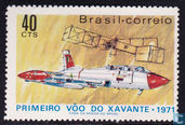 First flight of the Brazilian biplane