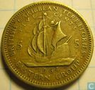 British Caribbean Territories 5 cents 1964