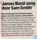'James Bond-song door Sam Smith'