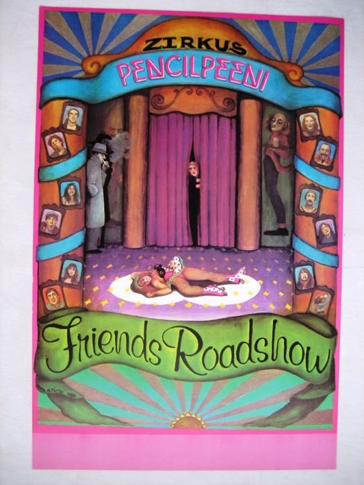 "M.M. Ferrini - Friends Roadshow ""Zirkus Pencilpeeni"" (Jango Edwards) - 1980 - Jaren 1980"