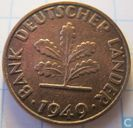 Germany 1 pfennig 1949 (narrow J)