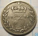 United Kingdom 3 pence 1896