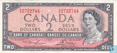 TICKET CANADA 2 DOLLARS 1954