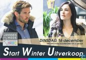 "Janssen Mode ""Start Winter Uitverkoop Dinsdag 16 december"""