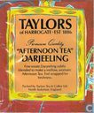 "Tea bags and Tea labels - Taylors of Harrogate - ""Afternoon Tea"" Darjeeling"