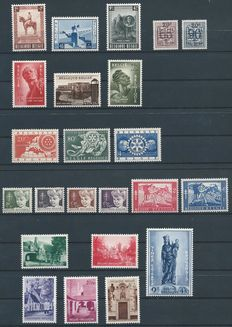 Belgium 1954 – Complete year, including Begijnhof Brugges and Breendonk II, among others – OBP 938/60.