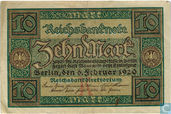 Banknotes - Reichsbanknote - Germany 10 Mark