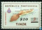 Map of Timor with print