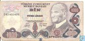 Turkey 1,000 Lira ND (1979/L1970)
